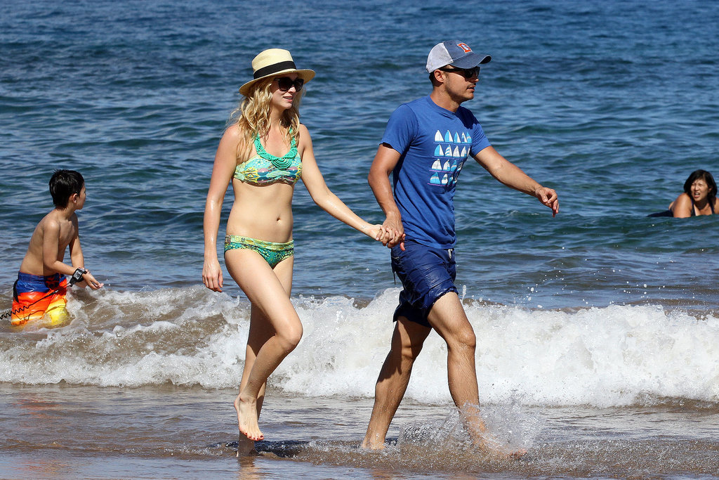 The Vampire Diaries star Candice Accola walked along the beach with her now-husband Joe King in Hawaii back in April 2014.