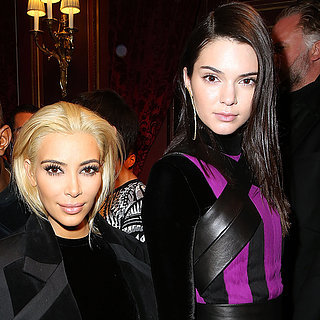 Kim Kardashian and Kendall Jenner Wearing a Balmain Dress