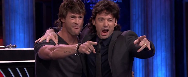Mullets Make Chris Hemsworth and Hugh Jackman's Game of Musical Beers Even Funnier