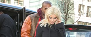 Kanye West Showers Kim Kardashian With PDA in Paris