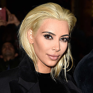 Kim Kardashian New Blonde Hair in Paris