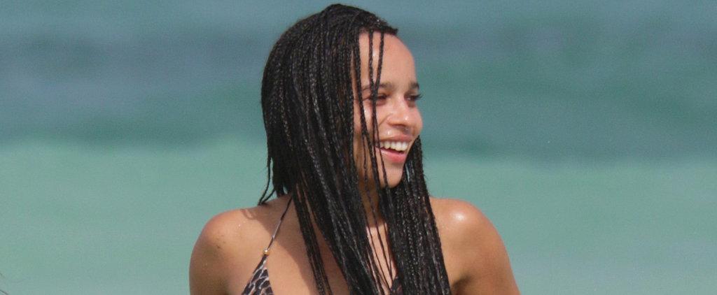 Zoë Kravitz's Impressive Bikini Body Makes a Splash in Miami
