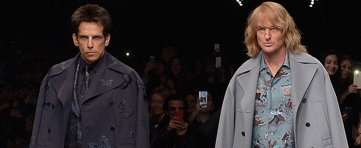 ... and Zoolander in Valentino Show for Confirmation of 'Zoolander 2