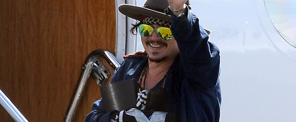 Johnny Depp Is All Smiles Despite His Recent Injury