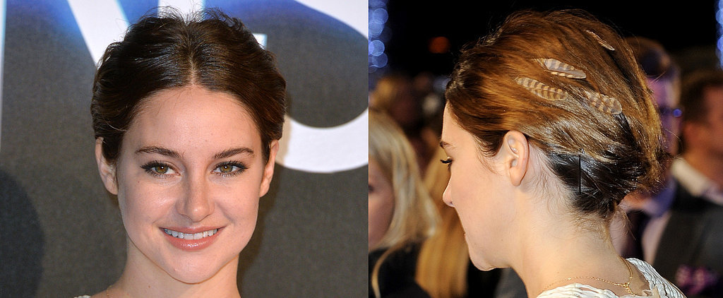 Shailene Woodley Brings Back the Hair-Feather Trend