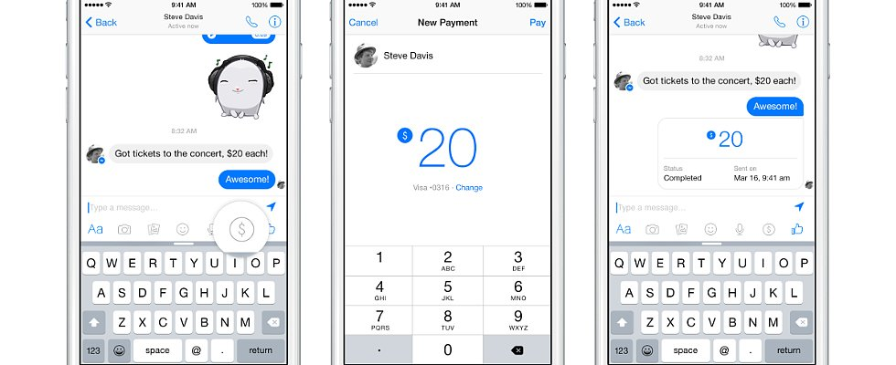 Facebook Pulls a Venmo With Its New Messenger Payment Tool