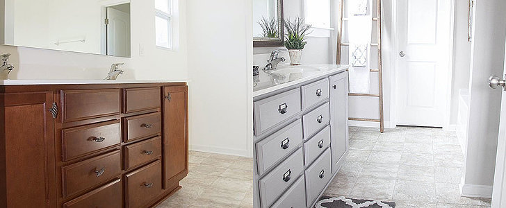 Prepare to Be Floored by This Affordable Bathroom Makeover