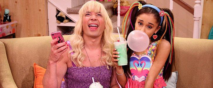 "Watch Ariana Grande Crack Up Jimmy Fallon During ""Ew!"""