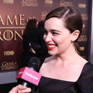 Emilia Clarke Game of Thrones Season 5 Premiere Interview