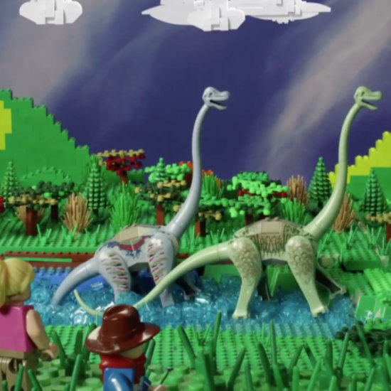Father-Daughter Re-Create Jurassic Park With Legos