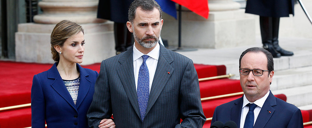 Spain's King and Queen Arrive in Paris Before Suspending Their Trip