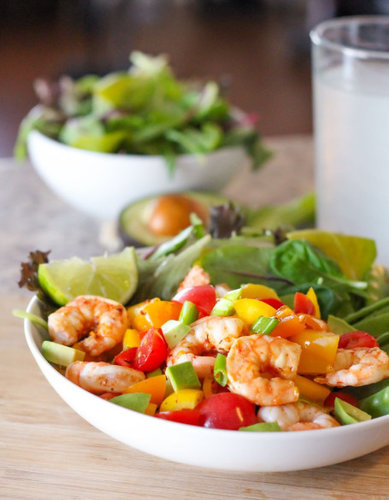 Chipotle Shrimp Salad - Eat Spin Run Repeat