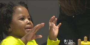 Little Girl Celebrates Hearing For The First Time With The Cutest Dance