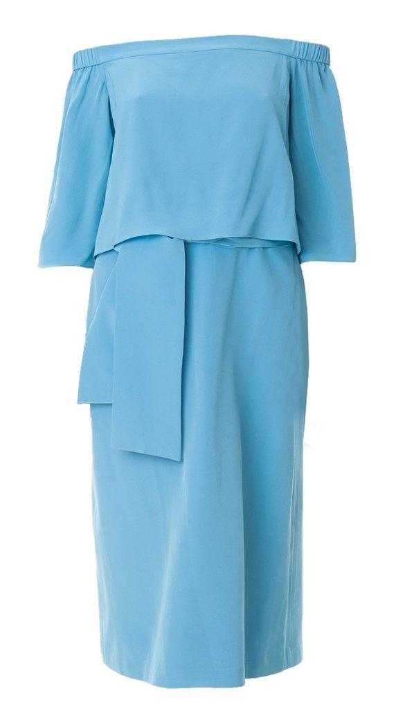 Tibi Off-the-Shoulder Midi Dress
