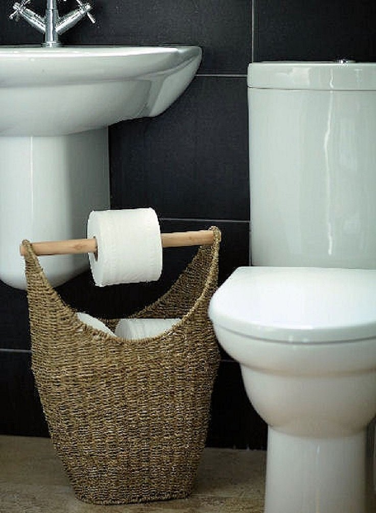 Clever Toilet Paper Storage