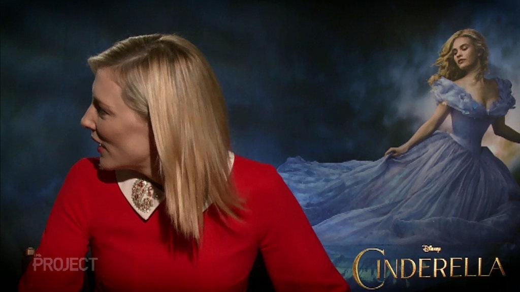 Cate blanchett swears at reporter in cinderella interview popsugar