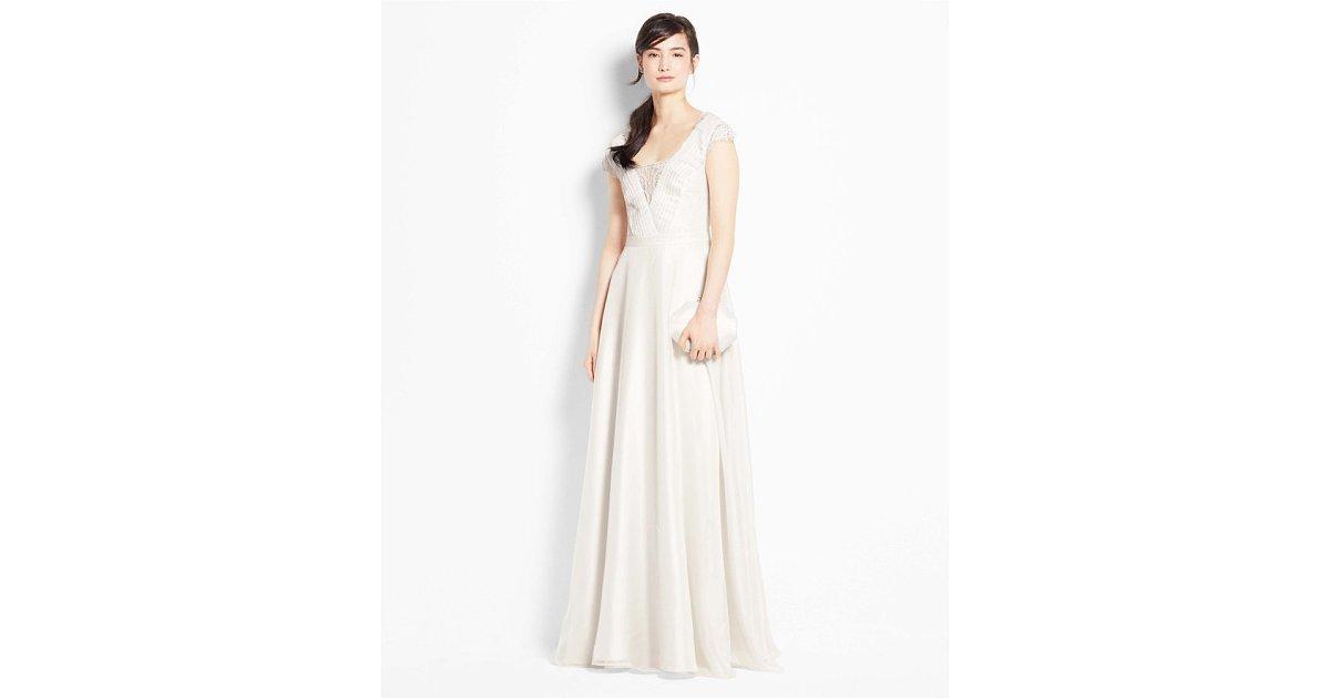 Ann Taylor Wedding Gowns: Ann Taylor Lace Cap Sleeve Wedding Dress