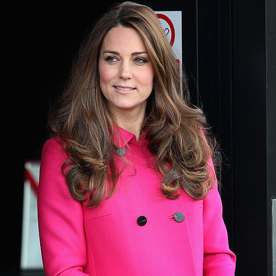 Kate Middleton Wearing Pink Mulberry Coat
