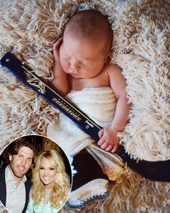 Carrie Underwood Shares First Real Shot of Adorable Baby Son Isaiah, Says He Wants to Be a Hockey Player: Pic