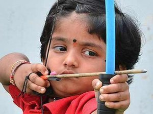 2-Year-Old Indian Girl Breaks Archery Record, Is Our New Matriarch