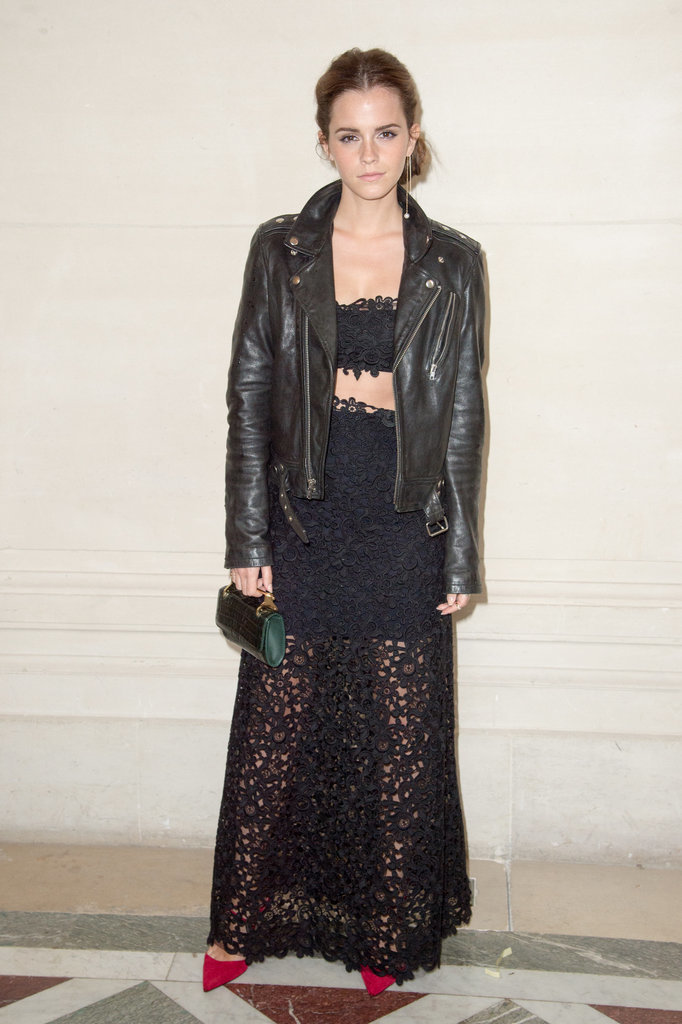 Emma Watson in Valentino at Paris Haute Couture Fashion Week