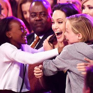 Angelina Jolie With Shiloh and Zahara at Kids' Choice Awards