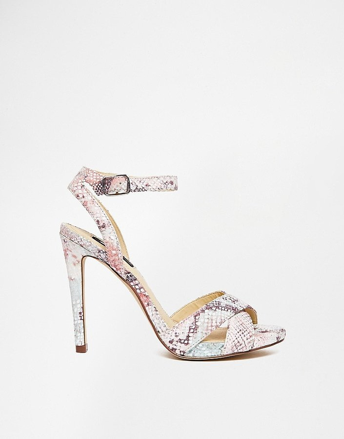 Blink Pastel Snake-Print Barely There Sandals