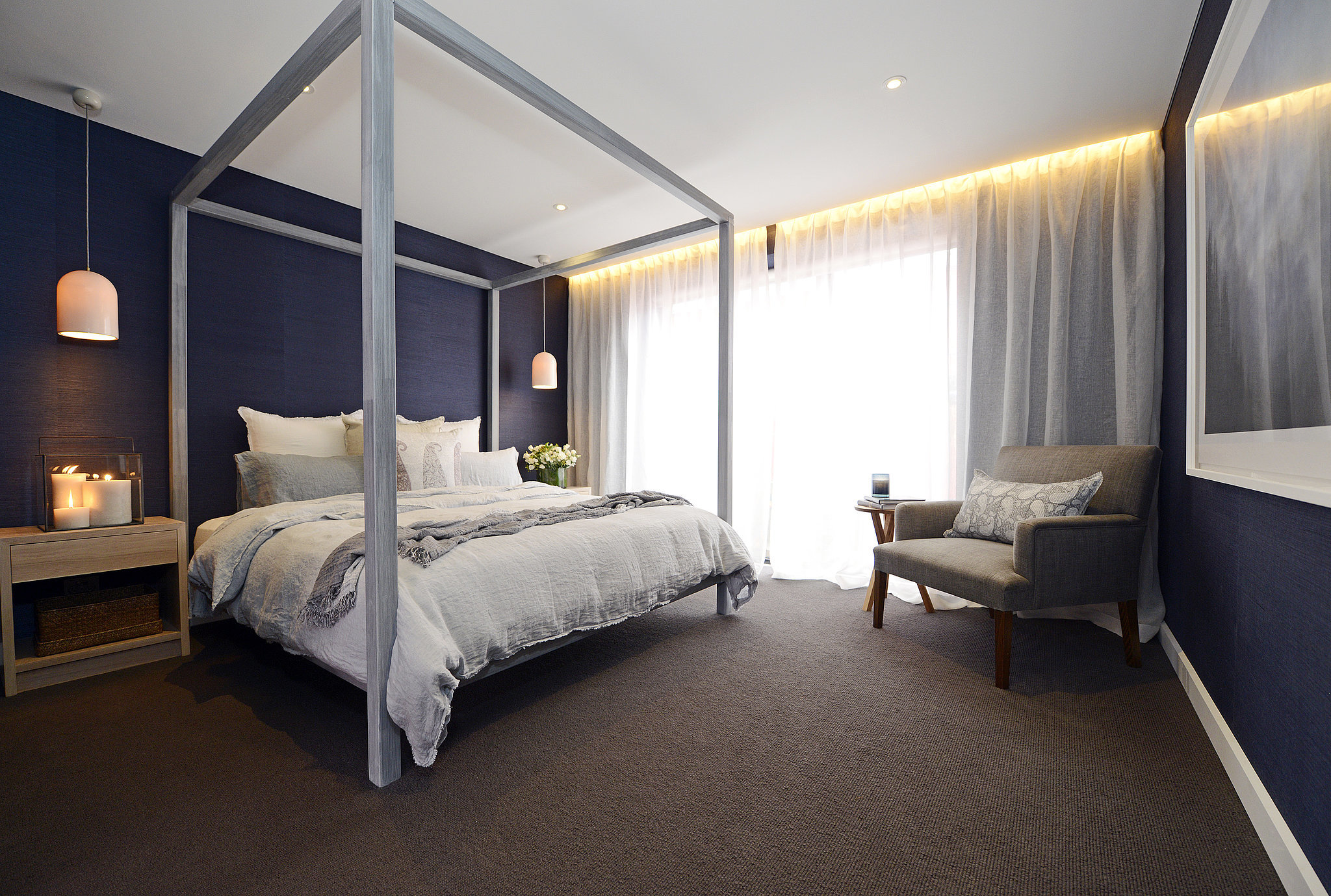 Darren and deanne 39 s master bedroom find out the winners for The block master bedrooms