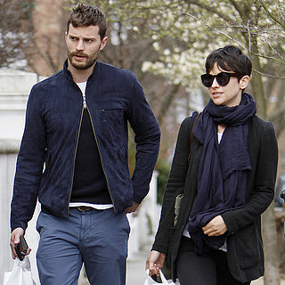 Jamie Dornan and Amelia Warner Walking in
