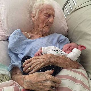 101-Year-Old Grandmother Holding Baby | Photo