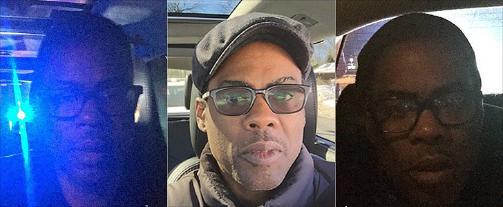 Chris Rock Takes a Selfie After Being Stopped by Police