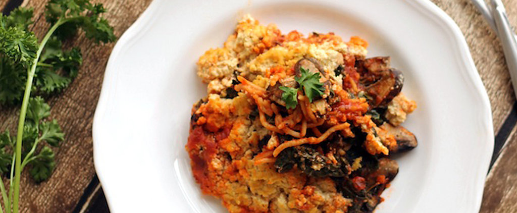 This Baked Spaghetti Adds a Twist With Some Kale, Mushrooms, and Tofu Ricotta