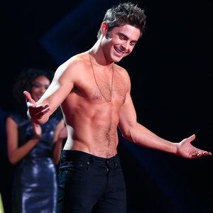 Zac Efron Shirtless at the MTV Movie Awards 2014