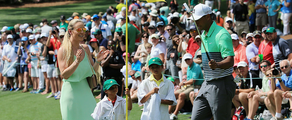 Tiger Woods Brings Lindsey Vonn and His Kids Along For a Cute Round of Golf