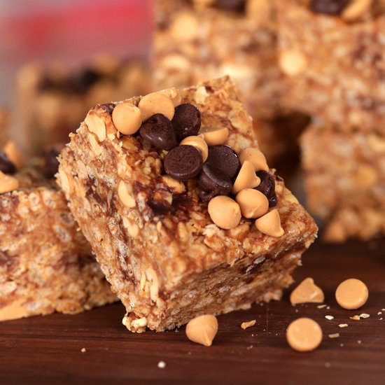 No-Bake Chocolate and Peanut Butter Granola Bars