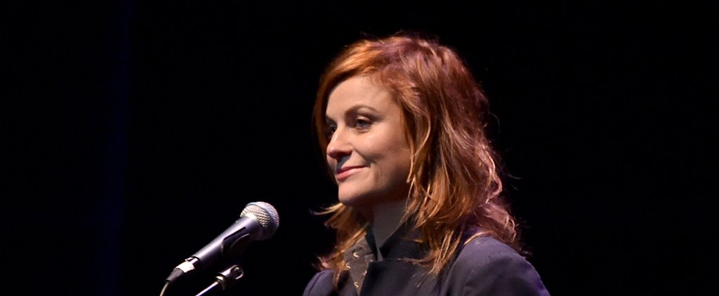 Amy Poehler Steps Out With a Fiery Red Look