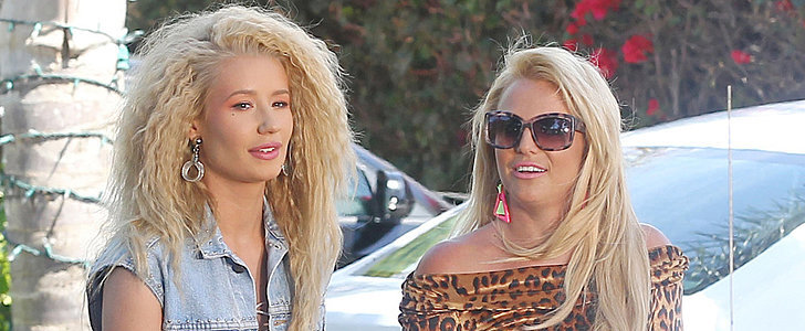 Britney Spears Shows Serious Midriff on Set With Iggy Azalea
