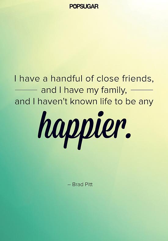 Family-man Brad Pitt has never been happier.