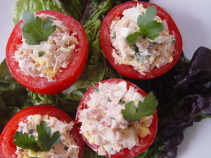 Tuna Salad on Tomato