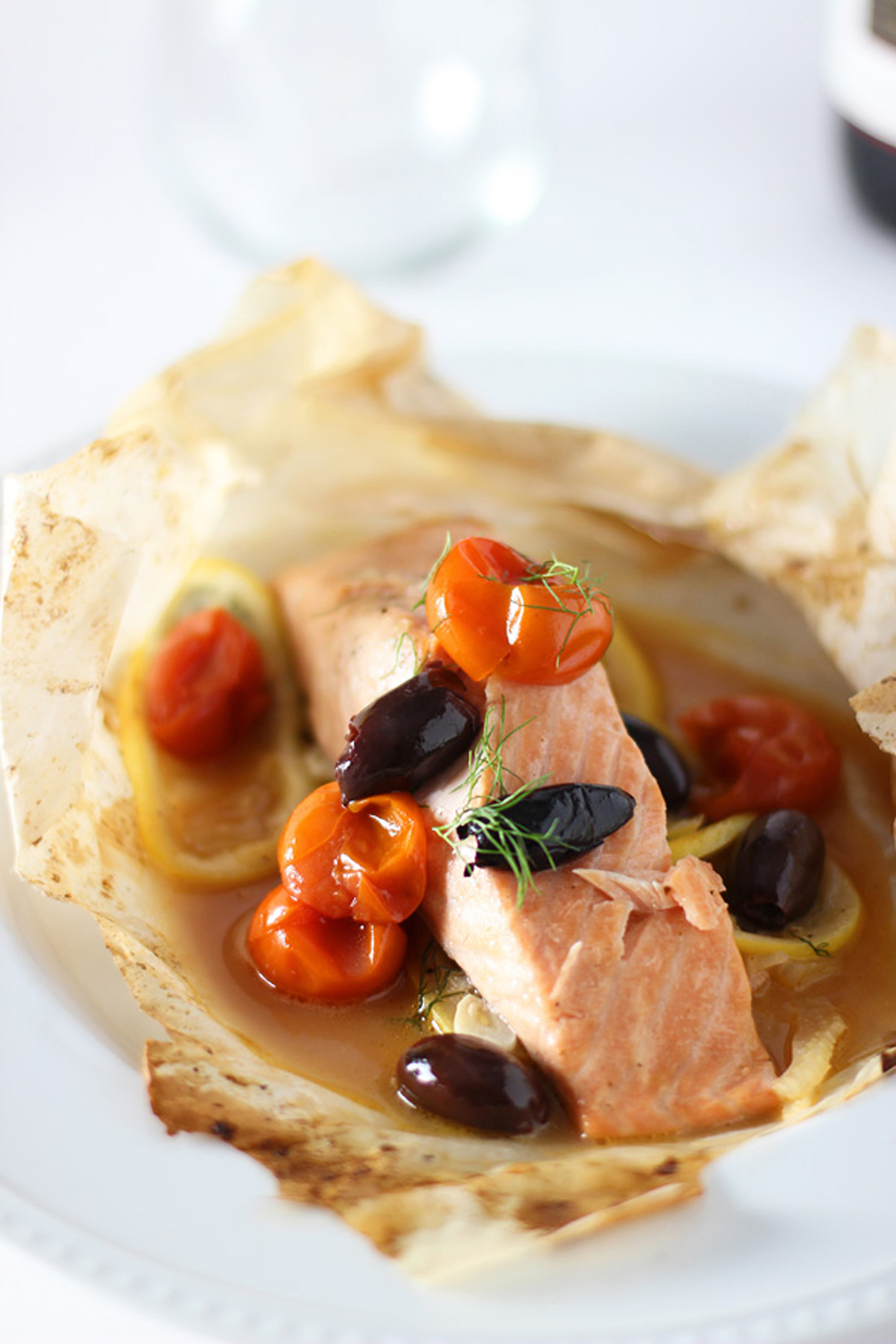 Salmon En Papillote With Cherry Tomatoes and Fennel | POPSUGAR Food