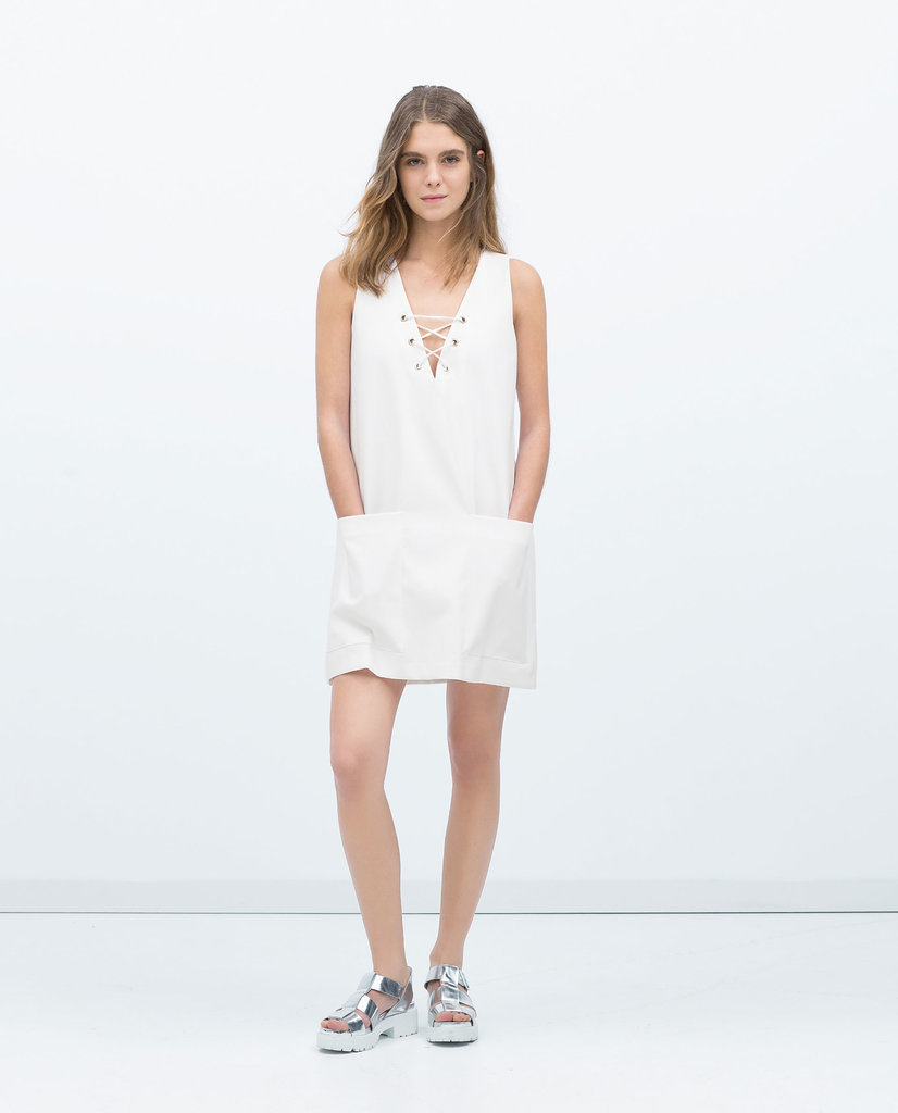 Zara Tie Neck Dress ($60)