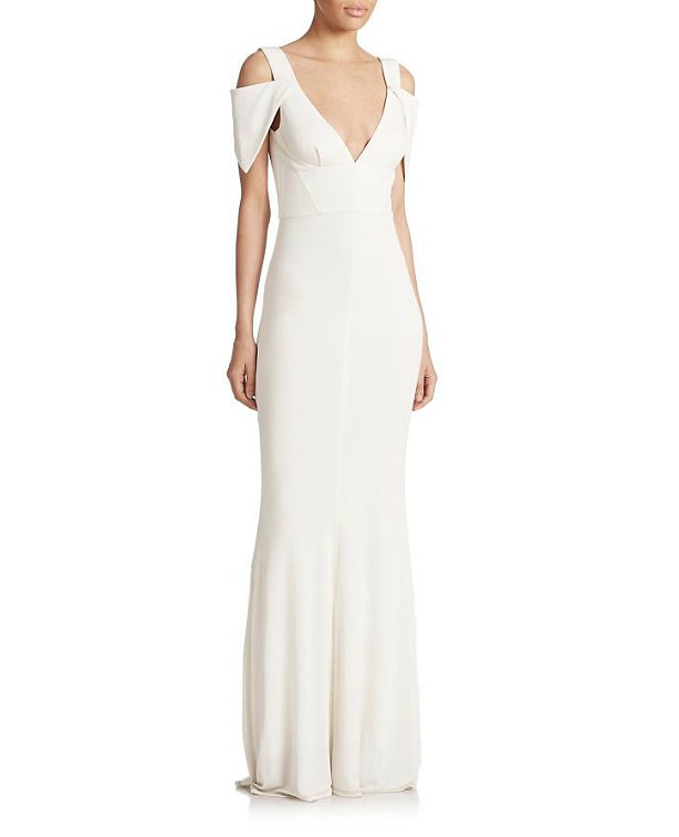 ABS Deep V Gown ($390)