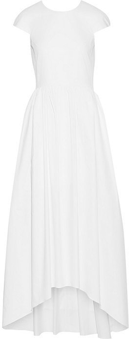 Tibi Asymmetric Cotton-Poplin Maxi Dress ($750)