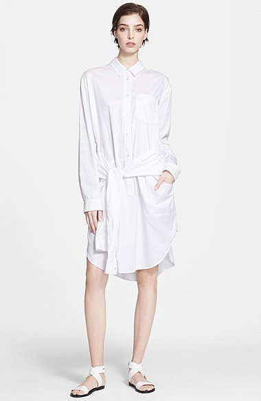 T by Alexander Wang Oversize Cotton Poplin Shirtdress ($405)