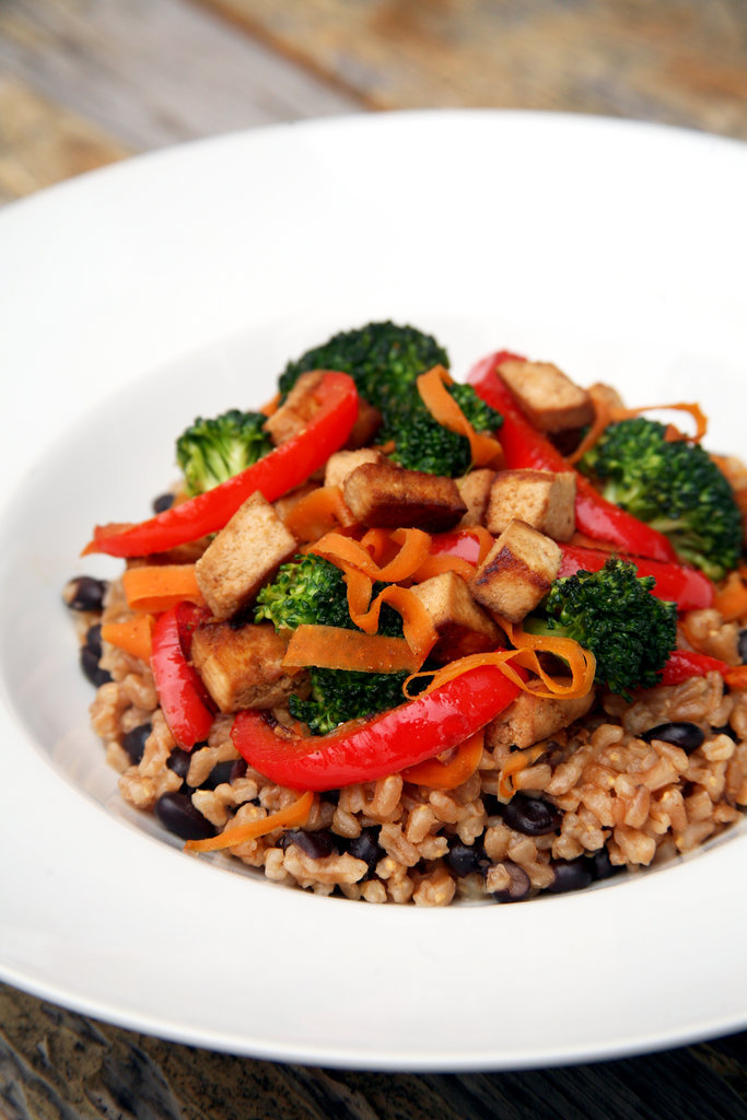 Maple-Cumin Tofu With Farro