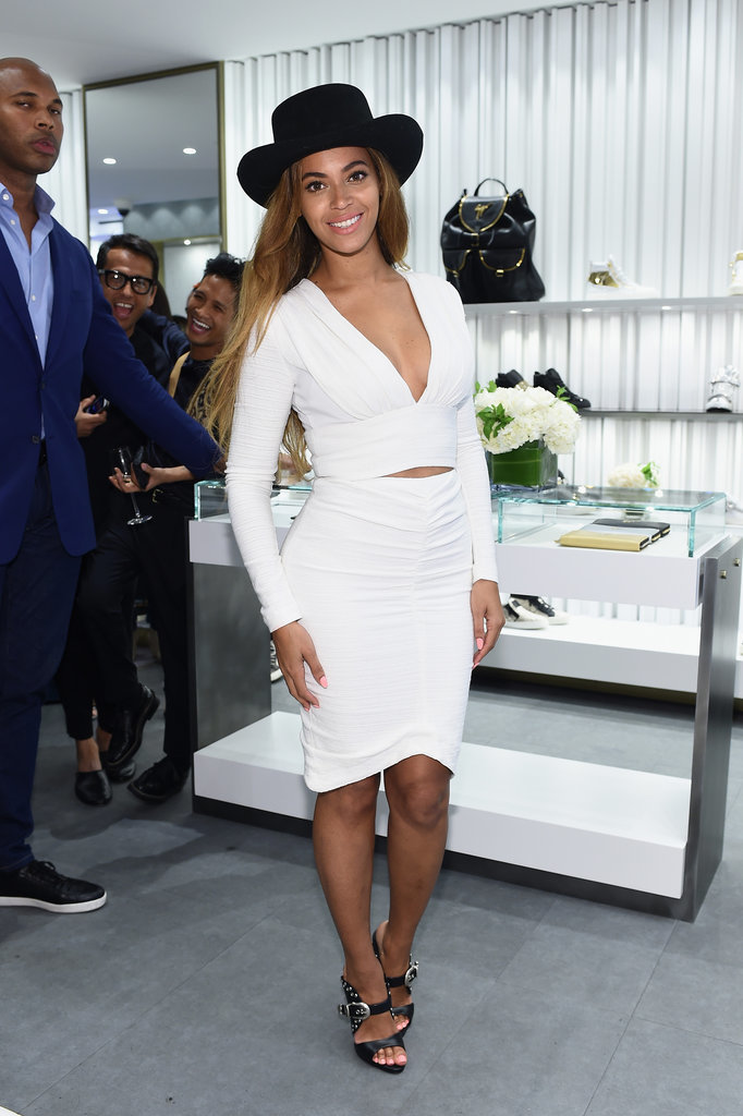 Beyonce Knowles At Giuseppe Zanotti Boutique Launch Pictures Popsugar Celebrity