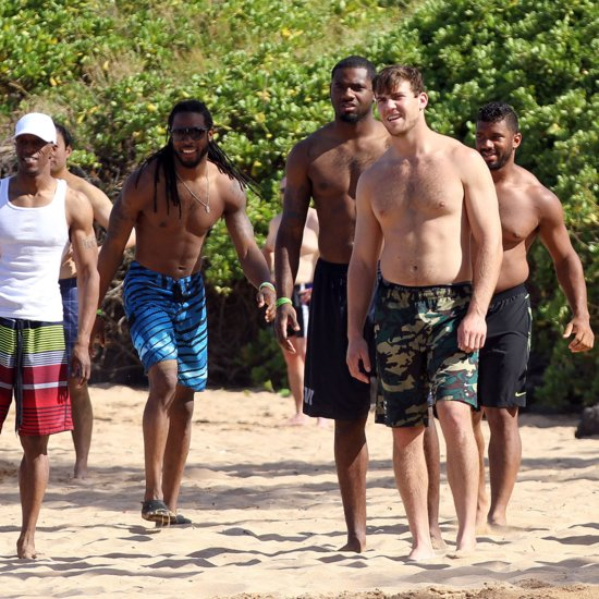 Russell Wilson and Richard Sherman Shirtless in Hawaii