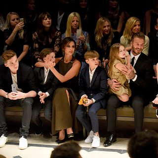 David and Victoria Beckham With Their K