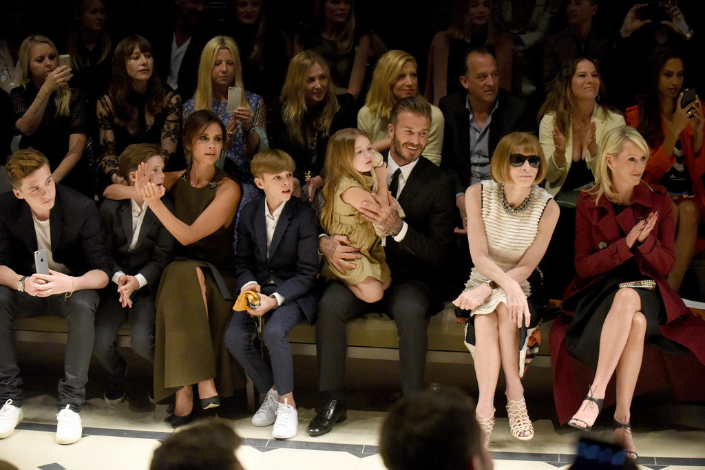 David and Victoria Beckham With Their Kids at Burberry Show ...