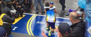 This Boston Marathon Finisher Got the Best Surprise Ever